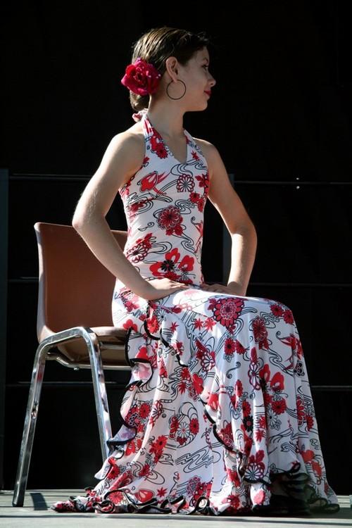 Flamenco dancer seated